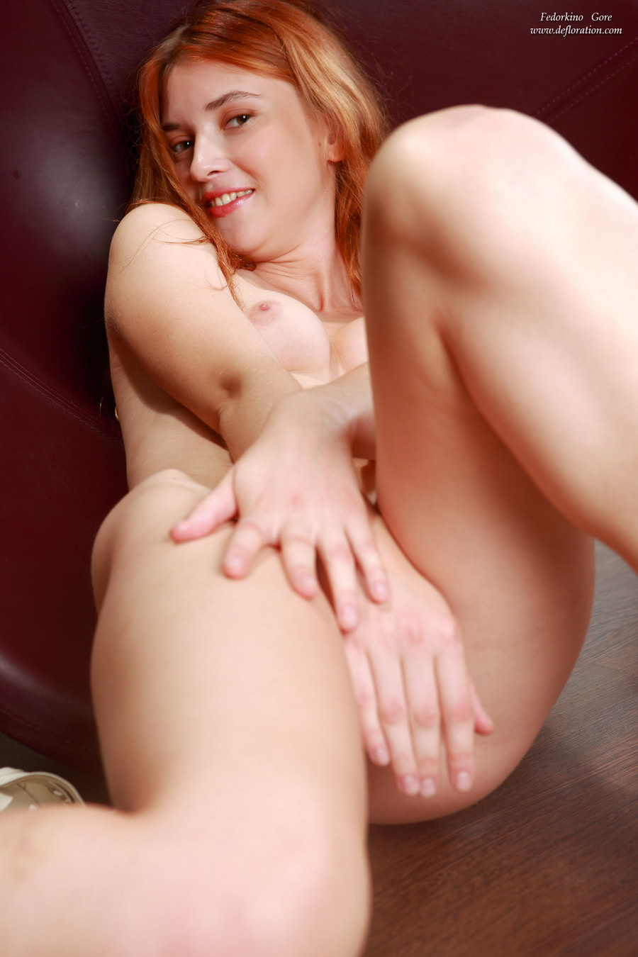 Rather Teen virgin ginger pussy seems magnificent